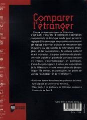 Comparer l'étranger ; enjeux du comparatisme en littérature - 4ème de couverture - Format classique
