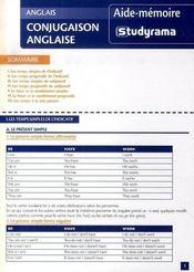 Conjugaison anglaise - Intérieur - Format classique