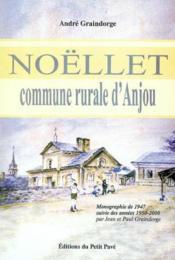 Noellet, Commune Rurale D'Anjou - Couverture - Format classique