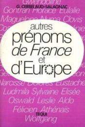 Autres Prenoms France-Europe - Couverture - Format classique