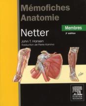Mémofiches anatomie Netter ; membres (3e édition) - Couverture - Format classique
