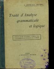 Traite D'Analyse Grammaticalde Et Logique - Couverture - Format classique
