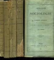 Principes De Sociologie - En 4 Tomes. - Couverture - Format classique