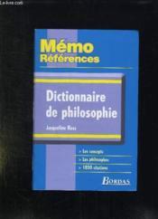 Dictionnaire de philosophie - Couverture - Format classique