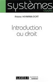 Introduction au droit - Couverture - Format classique