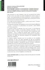 Introduction au droit - 4ème de couverture - Format classique