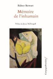 Mémoire de l'inhumain - Couverture - Format classique
