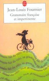Grammaire francaise et impertinente - Couverture - Format classique