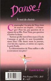 Danse T.2 ; A Moi De Choisir - 4ème de couverture - Format classique
