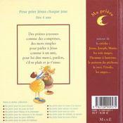 Ma Priere Autour De La Creche - 4ème de couverture - Format classique