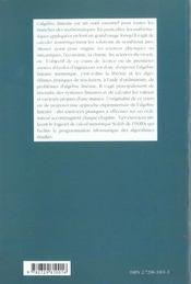 Algebre Lineaire Numerique Cours Et Exercices - 4ème de couverture - Format classique