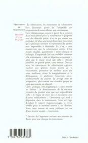 Traitements De Substitution ; Histoire Etude Pratique - 4ème de couverture - Format classique