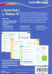 Le Service Pack 2 Pour Windows Xp - 4ème de couverture - Format classique