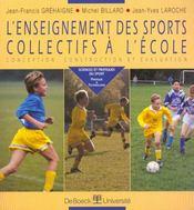 L'enseignement des sports collectifs à l'école - Intérieur - Format classique