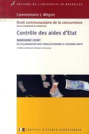Contrôle des aides d'état - Intérieur - Format classique