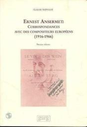 Corres Ansermet Compo Europeens Vol 1 - Couverture - Format classique