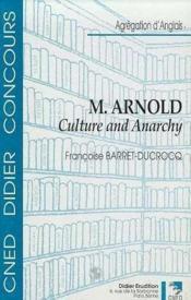 Matthew arnold-culture and anarchy - Couverture - Format classique