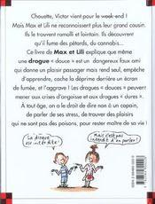 Le cousin de Max et Lili se drogue - 4ème de couverture - Format classique