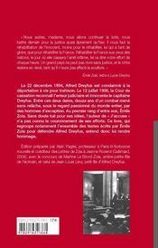 Combat pour dreyfus - 4ème de couverture - Format classique