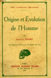 Origine Et Evolution De L'Homme - Couverture - Format classique