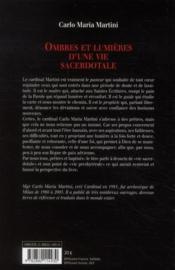 Ombres et lumières d'une vie sacerdotale - 4ème de couverture - Format classique