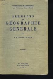Elements De Geographie Generale - Couverture - Format classique