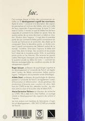 Le Developpement Cognitif Du Norrisson T.2 - 4ème de couverture - Format classique