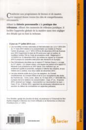 Procedure civile, 5eme ed - 4ème de couverture - Format classique