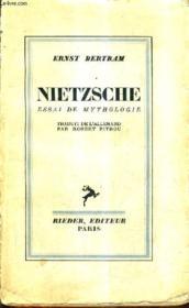 Nietzsche Essai De Mythologie. - Couverture - Format classique