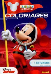 La maison de Mickey ; coloriage + stickers - Couverture - Format classique