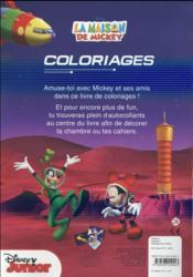 La maison de Mickey ; coloriage + stickers - 4ème de couverture - Format classique