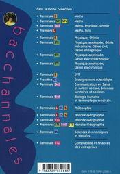 Bacchannales Sms ; Mathématiques/Physique-Chimie ; Sujets Du Bac Corrigés Et Commentés (2e Edition) - 4ème de couverture - Format classique