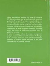 Abc Lexical De L'Economie Espagnol - 4ème de couverture - Format classique