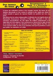 Solutions Macromedia ; Dreamweaver 4 Fireworks 4 Et Flash 5 - 4ème de couverture - Format classique