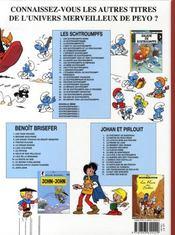Les schtroumpfs t.25 ; un enfant chez les schtroumpfs - 4ème de couverture - Format classique