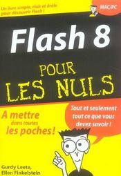 Flash 8 pour les nuls - Intérieur - Format classique