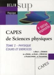 telecharger CAPES de sciences physiques t.1 (4e edition) livre PDF en ligne gratuit