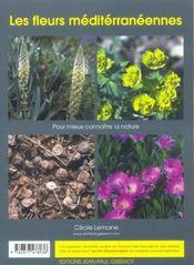 Les Fleurs Mediterraneennes - 4ème de couverture - Format classique