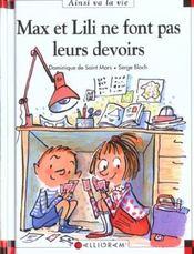Max et Lili ne font pas leurs devoirs - Intérieur - Format classique