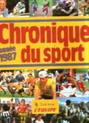 Chronique du sport, année 1987 - Couverture - Format classique