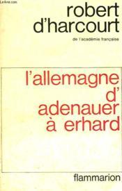 L'Allemagne D'Adenauer A Erhard. - Couverture - Format classique