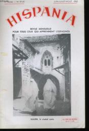 HISPANIA VIe ANNEE N°59-60 - Couverture - Format classique