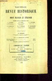 Nouvelle Revue Historique De Droit Francais Et Etranger / L'Administration Financiere Des Venitiens Dans Les Iles Ioniennes Par H.Monnier. - Couverture - Format classique