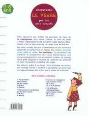 Découvrons le verbe par les mots croisés - 4ème de couverture - Format classique