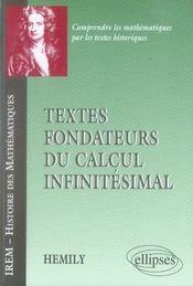 Textes fondateurs du calcul infinitésimal - Intérieur - Format classique