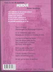 Dans La Rue Du Bonheur Perdue - 4ème de couverture - Format classique