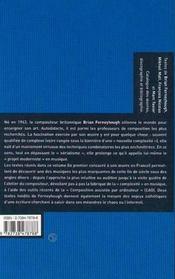 Brian Ferneyhough - 4ème de couverture - Format classique