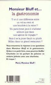 Monsieur bluff et gastronomie - 4ème de couverture - Format classique