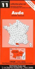 Département t.11 ; Aude - Couverture - Format classique