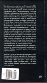 La Charîa et l'Occident - 4ème de couverture - Format classique